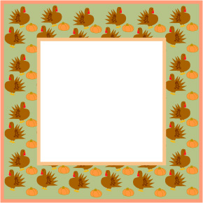 Thanksgiving Clip Art Border Scrapbook Graphics Turkeys Picture Frame