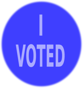 Blue Vote Sign Clip Art  Png And Svg