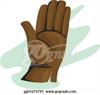 Clip Art   Illustration Of A Gloves Made Of Leather  Stock