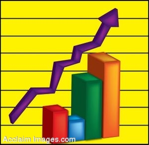 Clip Art Of A 3d Bar Graph