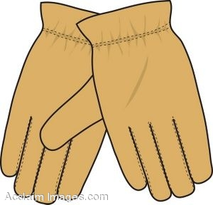 Clip Art Of A Leather Gloves