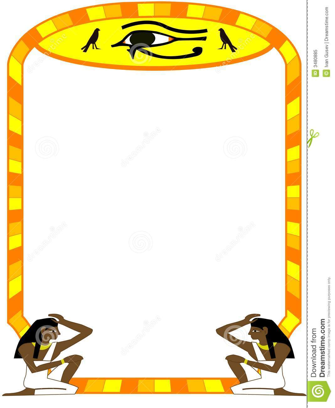 Egyptian Border Designs Frame Egyptian
