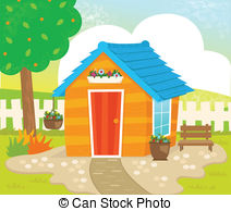 Garden Shed Vector Clipart Illustrations  122 Garden Shed Clip Art