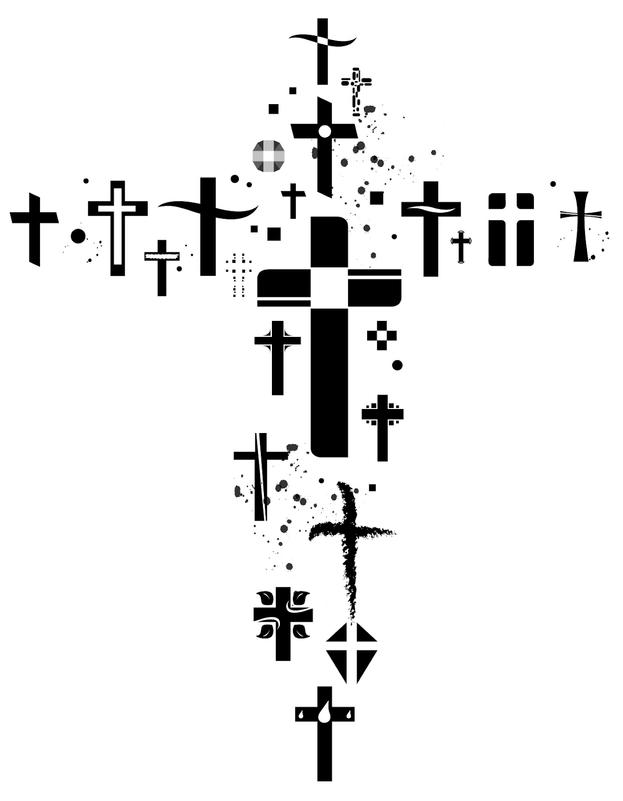 In Water Church Growth Graphic Swirl 1 Cross Of Nails Empty Tomb