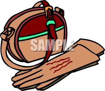 Leather Clipart 0511 0810 0503 1418 Leather Purse And Gloves Clipart