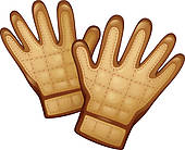 Leather Gloves Clipart Royalty Free  351 Leather Gloves Clip Art
