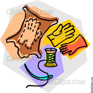Leather Gloves Vector Clip Art