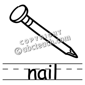 Nail Clipart Black And White   Clipart Panda   Free Clipart Images