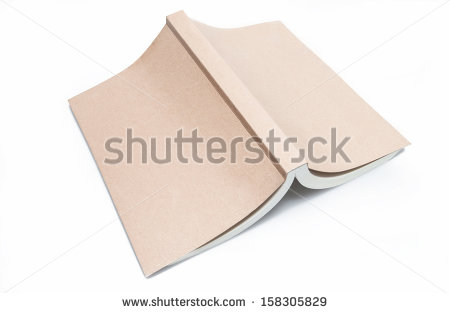 Open Book Upside Down On White Background Stock Photo 158305829