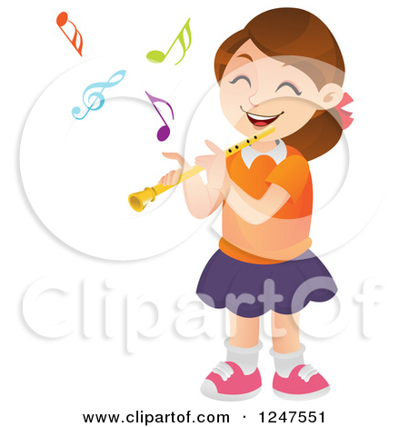 Playing Flute Clipart - Clipart Kid