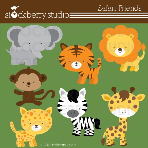 Safari Monkey Clipart - Clipart Kid