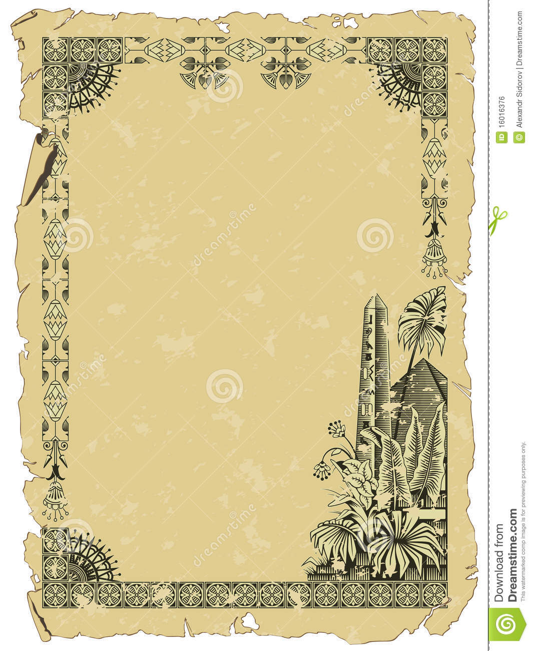 Vector Background Ancient Egypt Royalty Free Stock Image   Image