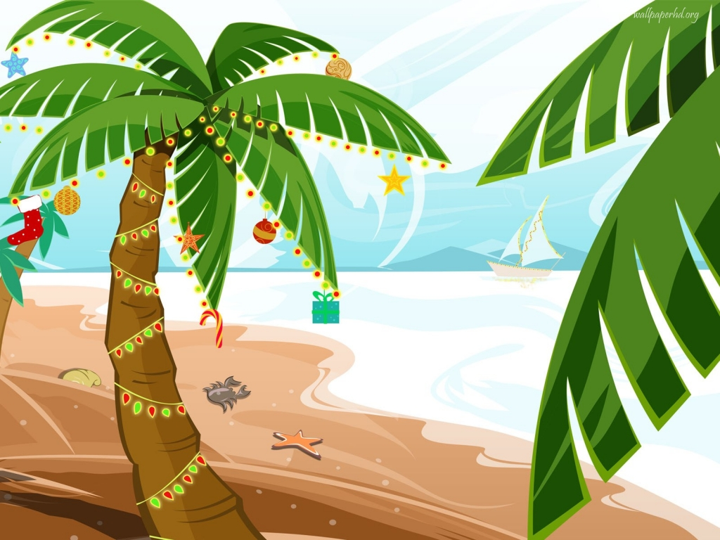 Tropical Christmas Clip Art – Cliparts