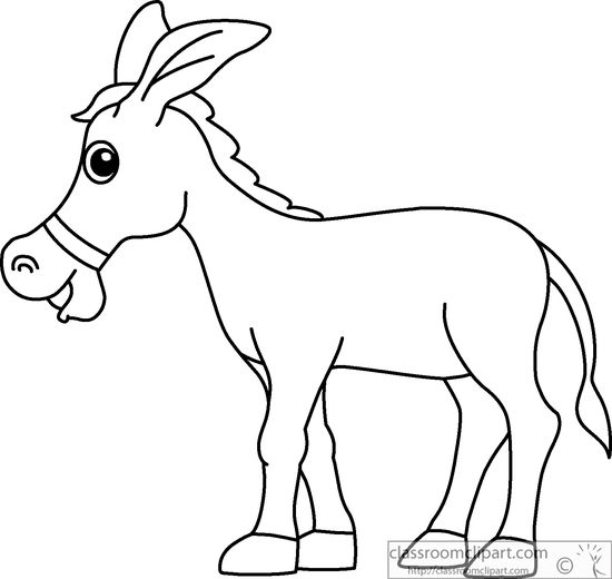 Line Drawing Donkey : Donkey black and white clipart suggest