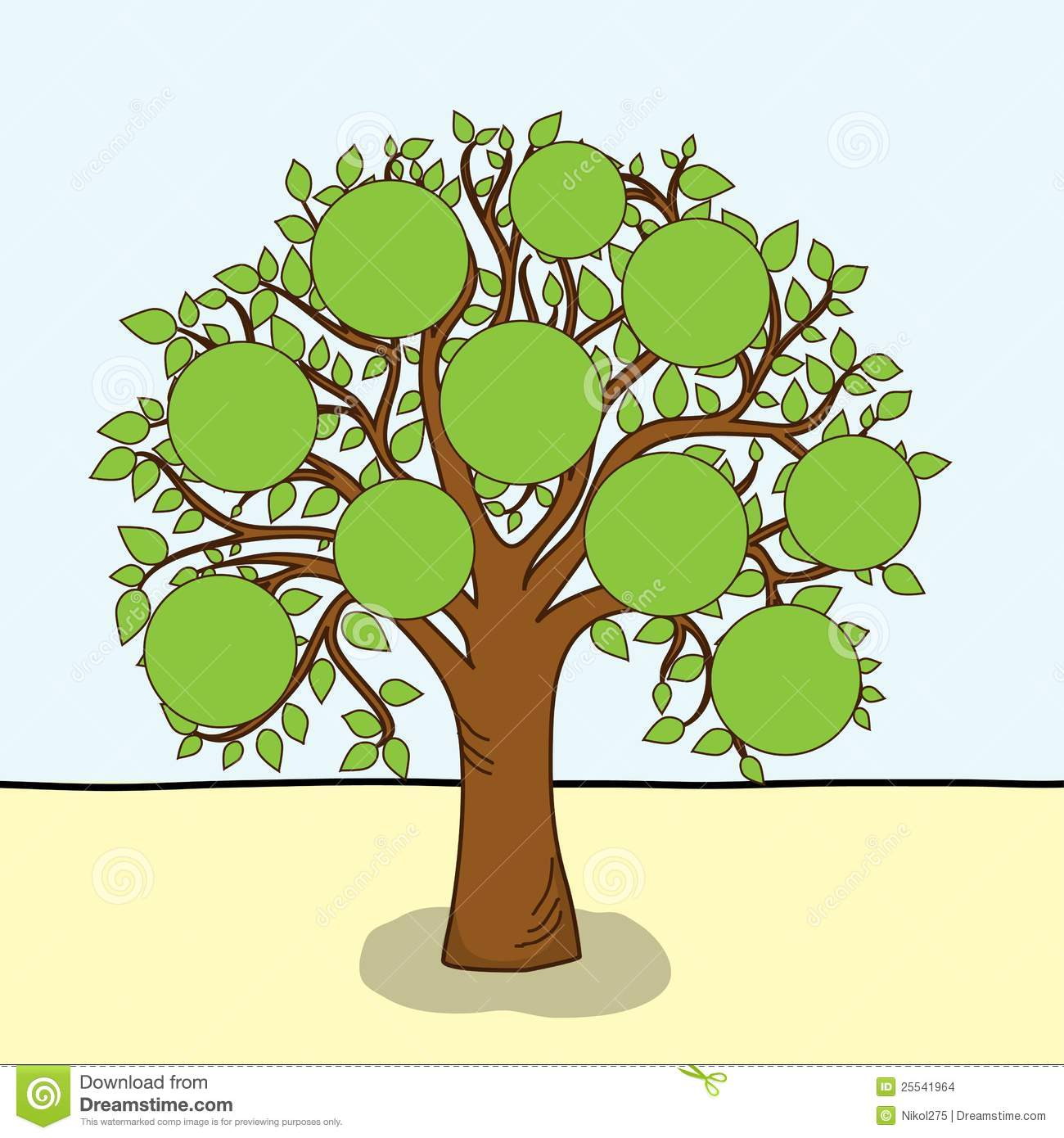 Family Tree Vector Clipart - Clipart Kid