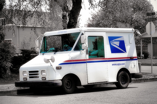 Mailman Truck In A Hot Mail Truck
