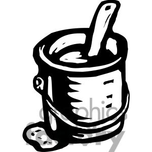 White Paint Can Clipart - Clipart Suggest