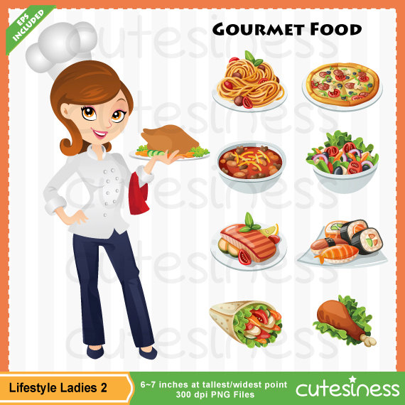 Personal Chef Clipart Woman Chef Clipart  Free