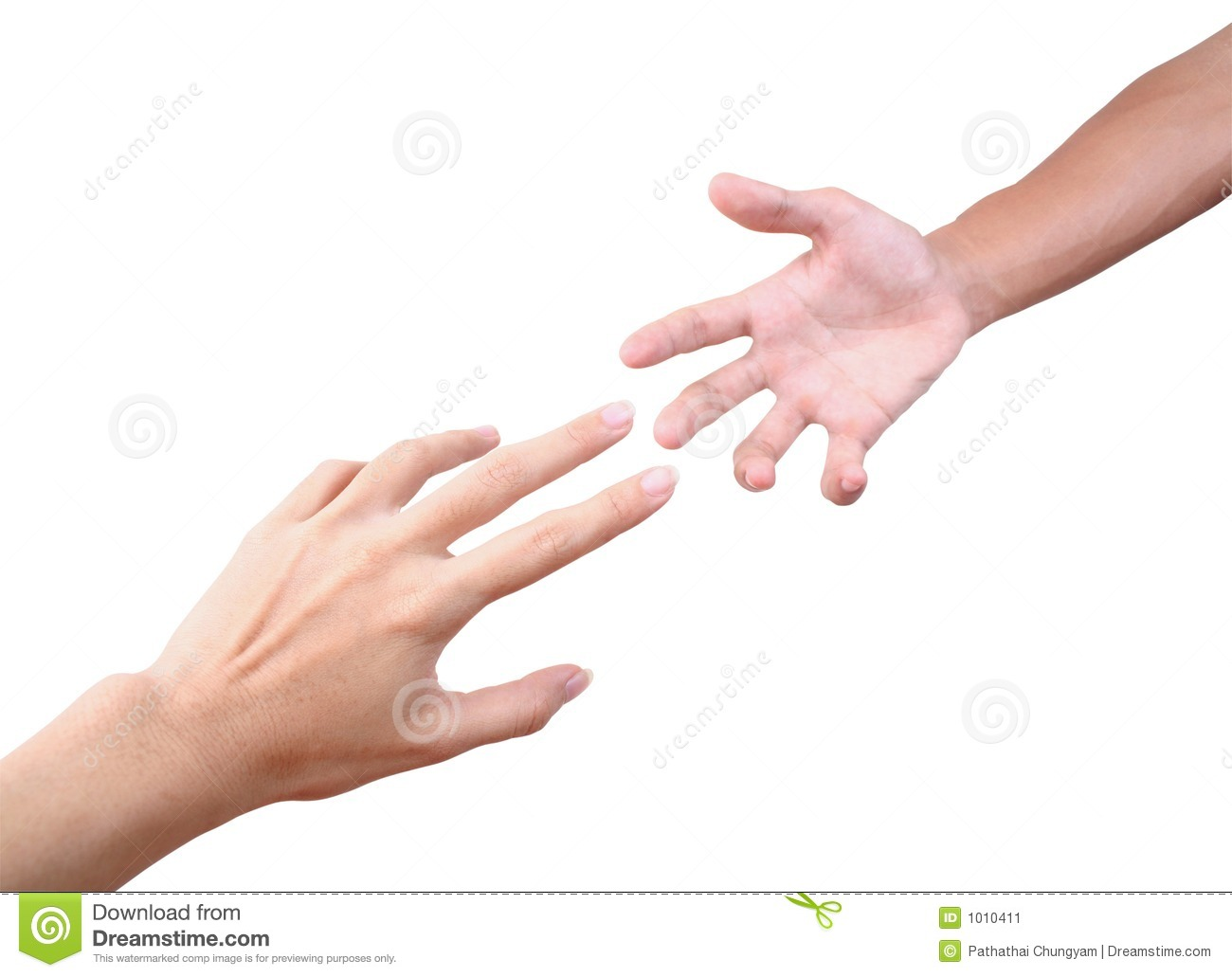 Reaching Hands Stock Image   Image  1010411
