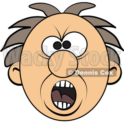 Royalty Free  Rf  Clipart Illustration Of A Screaming Mad Man S Face