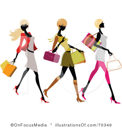 Clip Art Ladies Shopping Trip Clipart - Clipart Kid