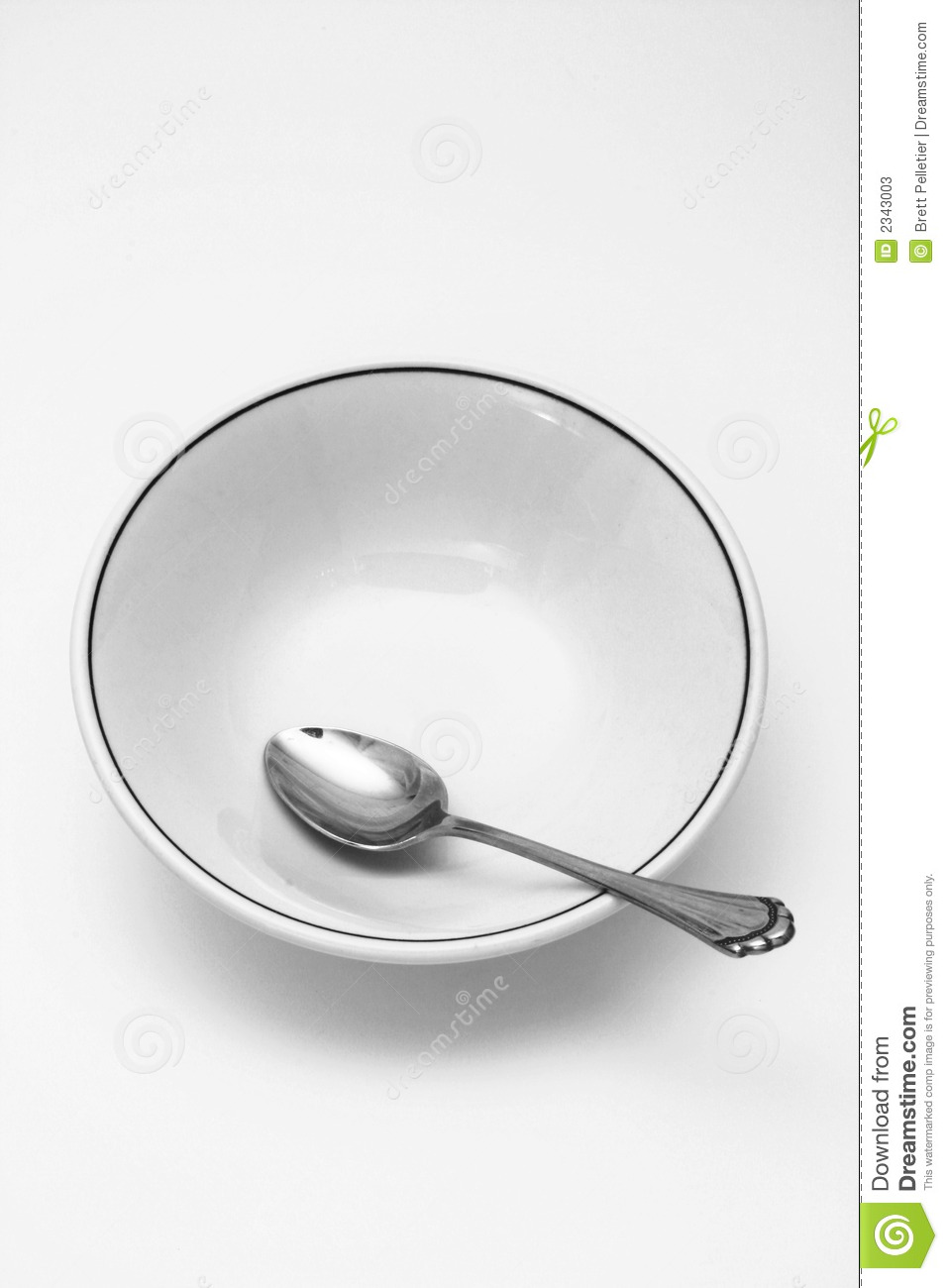 Spoon And Cereal Bowl Empty Stock Photos   Image  2343003