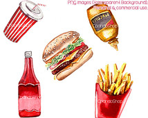 Transparent Background  Fast Food Junk Food French Fries Soda