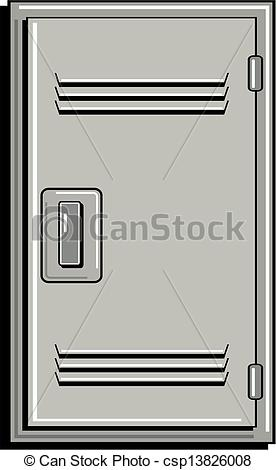 Vector Clipart Of Metal School Locker Csp13826008   Search Clip Art