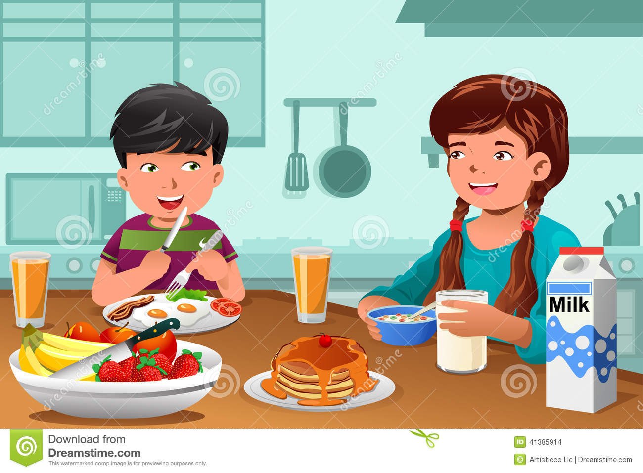 Happy Healthy Eating Clipart - Clipart Kid