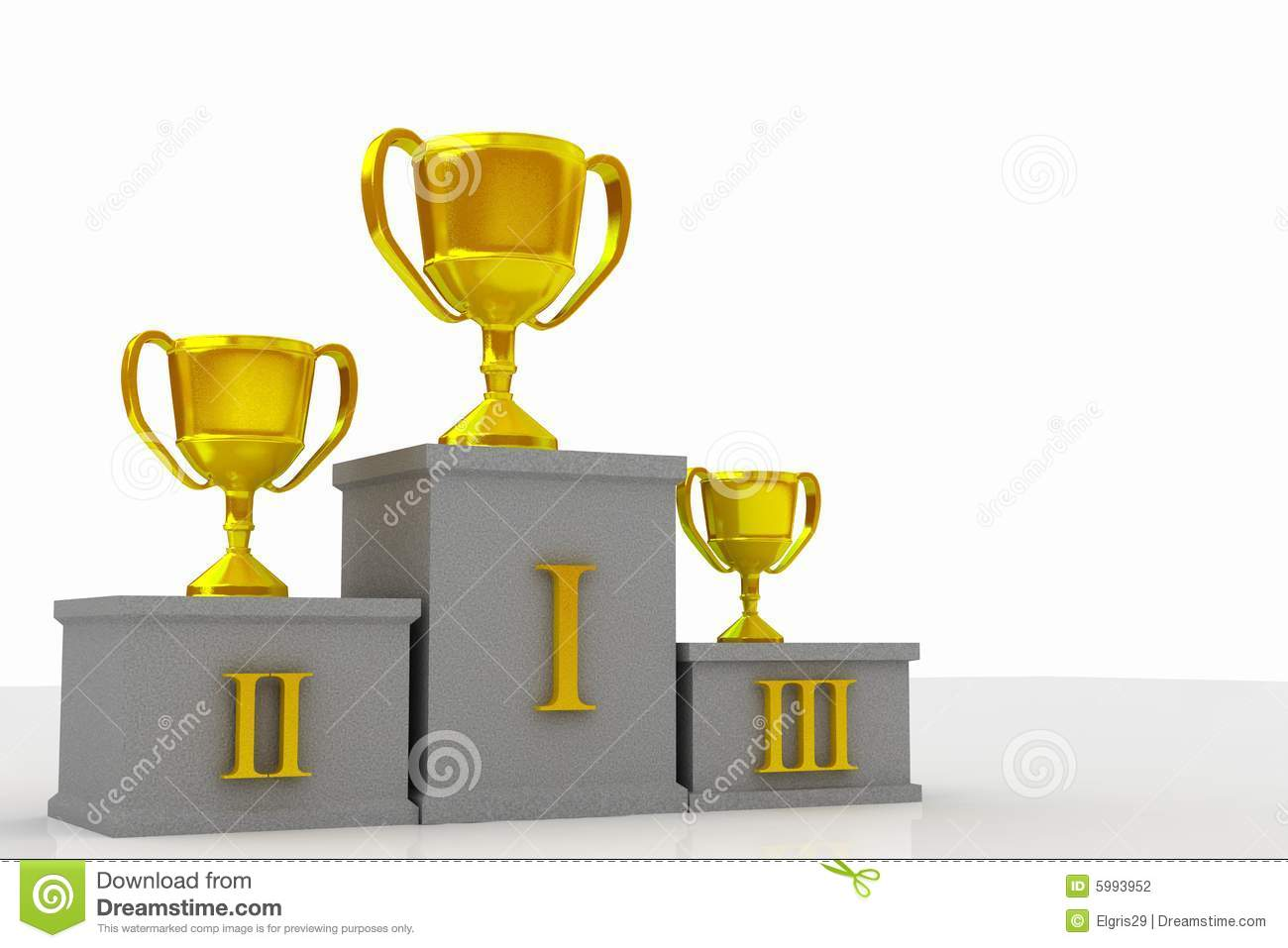 Winners Podium Stock Photography   Image  5993952