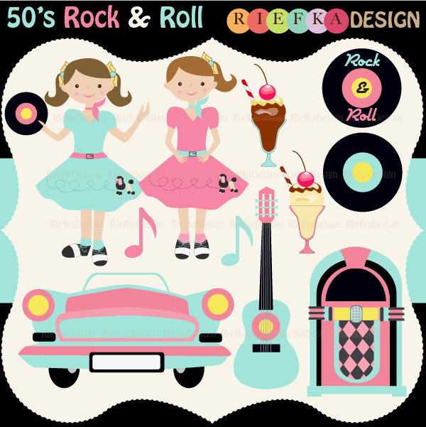 50s Rock And Roll Clipart - Clipart Kid