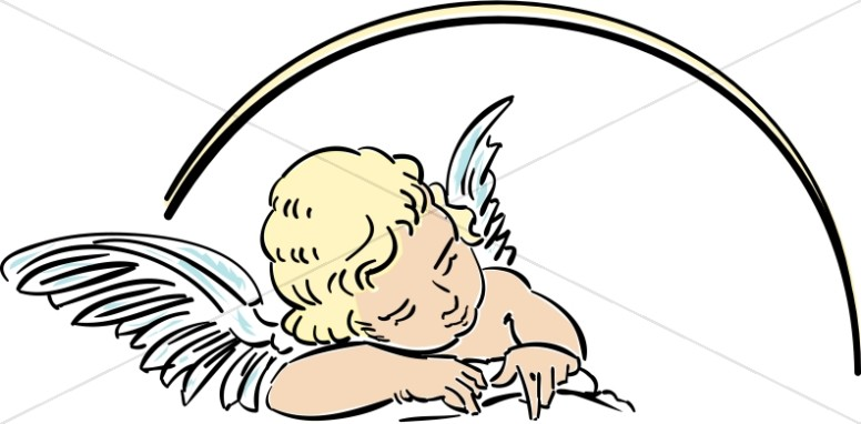 Clip Art Of Angels In Heaven Clipart - Clipart Kid