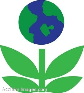 Art Picture Of An Environmental Go Green Earth Flower Icon  Clipart