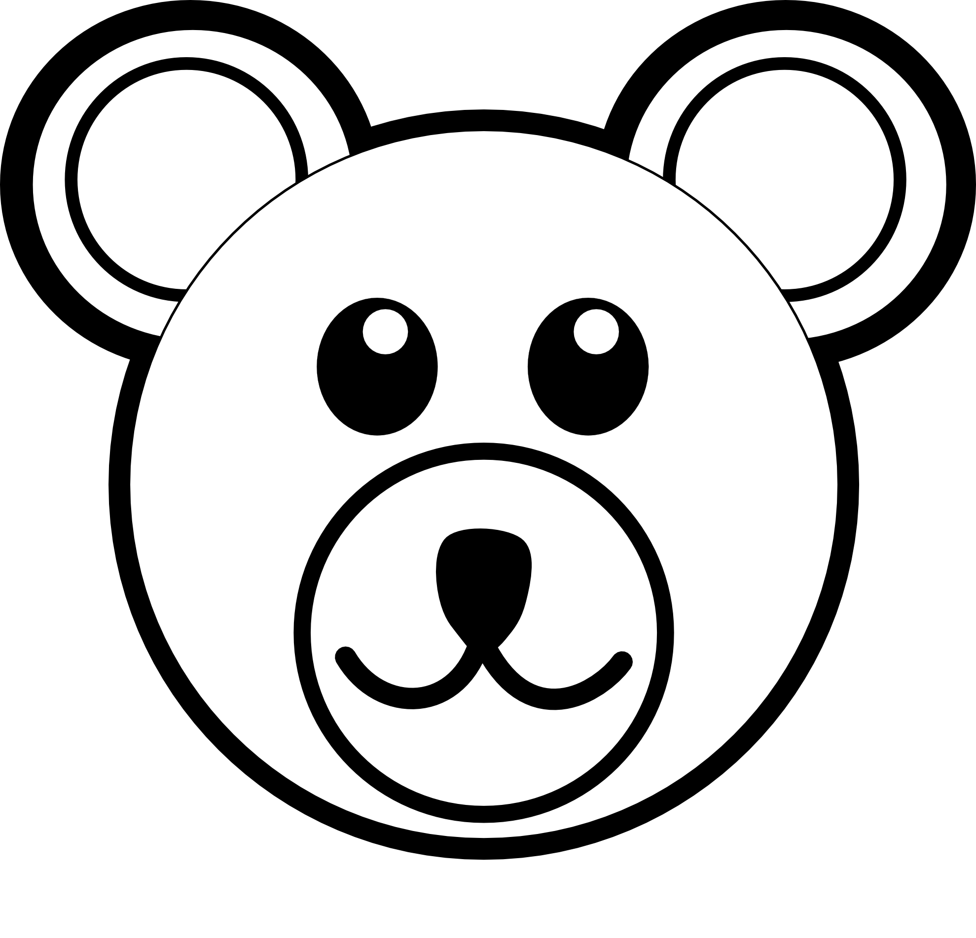 panda bear face coloring pages - photo#14