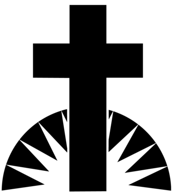 Black And White Sunrise Cross   Cross Clip Art   Christart Com