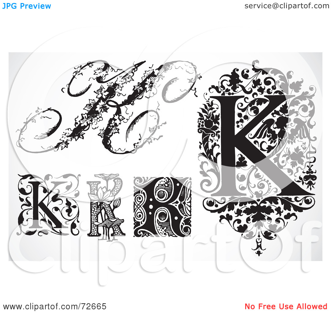 Calligraphy letter clipart