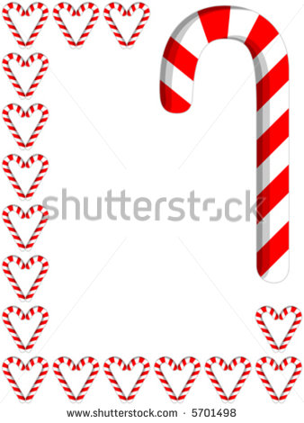Candy Cane Border Vector