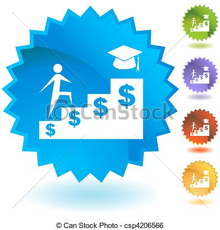 Clip Art Vector Of Student Financial Aid Csp4206566   Search Clipart