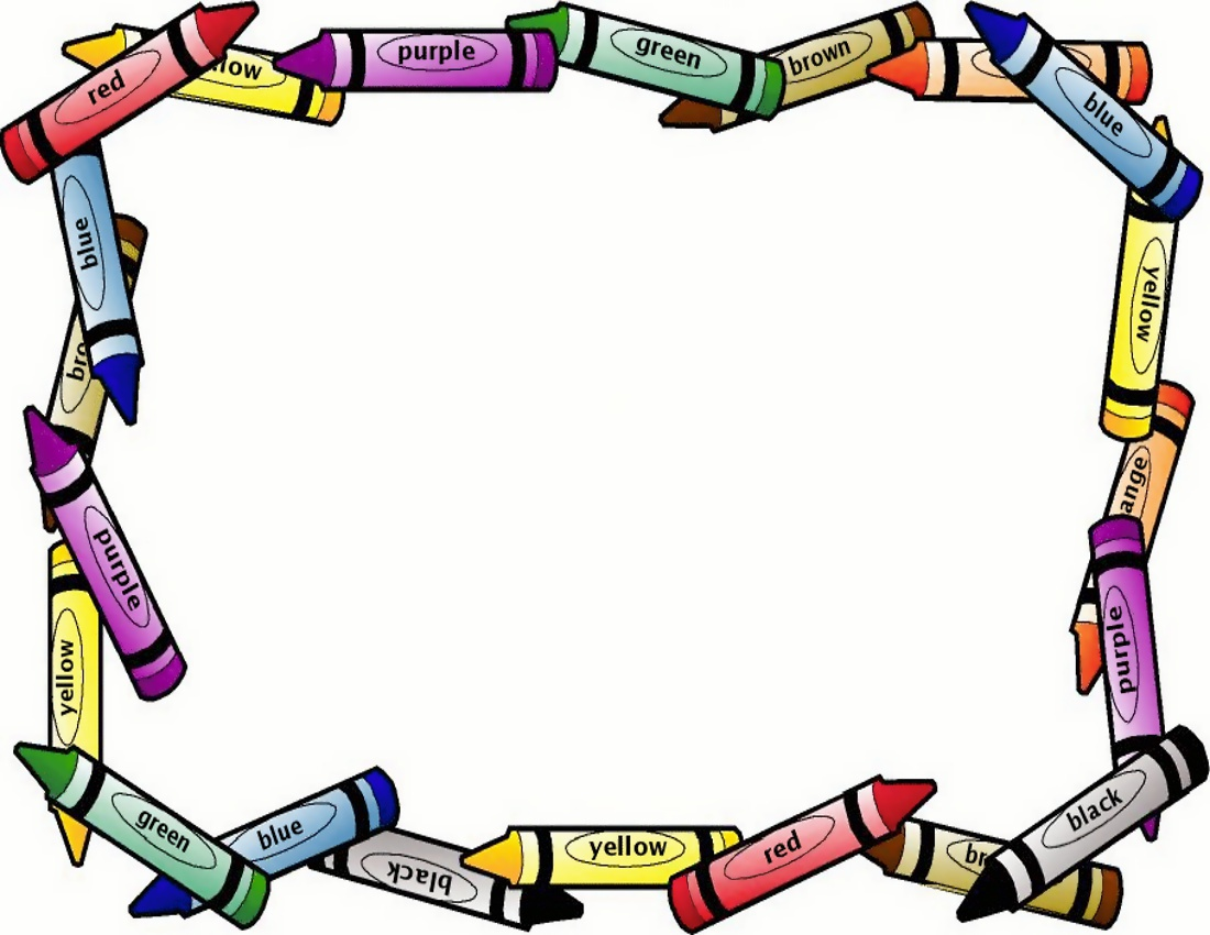 Crayons Border Clipart   Clipart Panda   Free Clipart Images