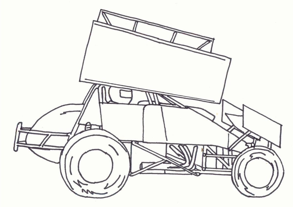 Dirt Car Coloring Pages : Image gallery modified race car drawings