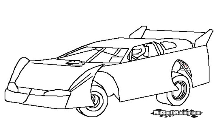 dirt sprint car coloring pages - photo#9