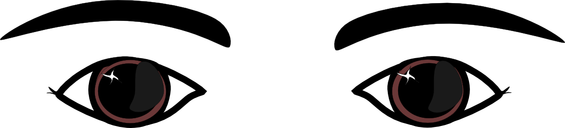 Clip Art Eyes With Eyebrows Clipart - Clipart Kid