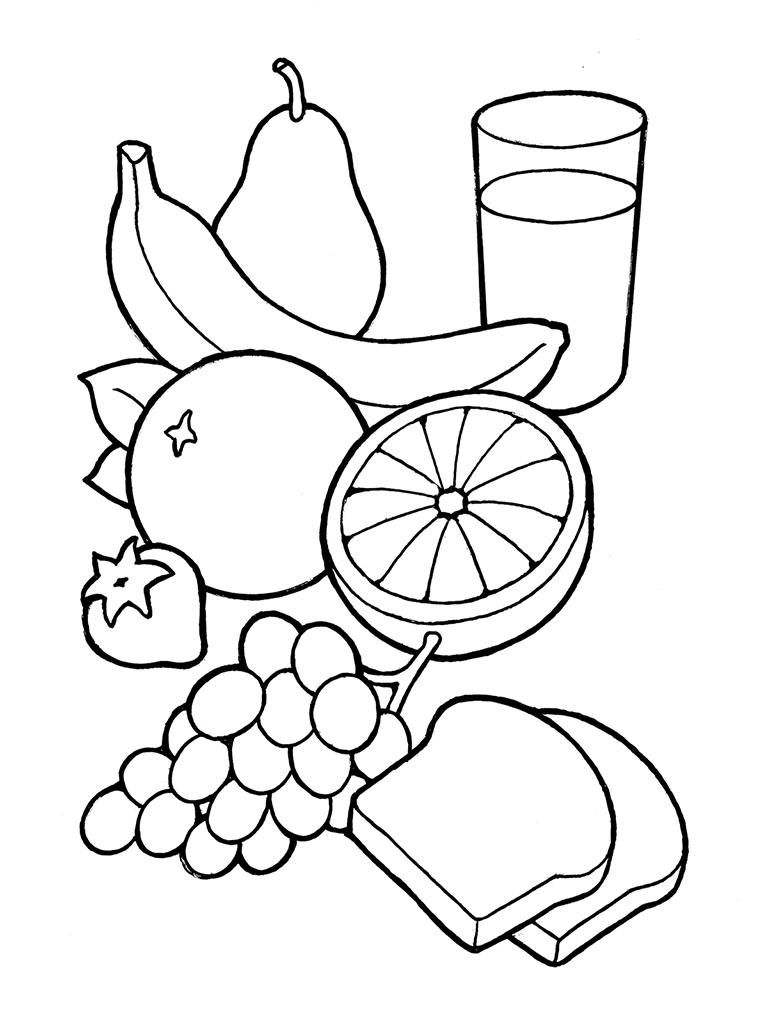 Clip art healthy food coloring clipart clipart suggest for Chicken food coloring pages
