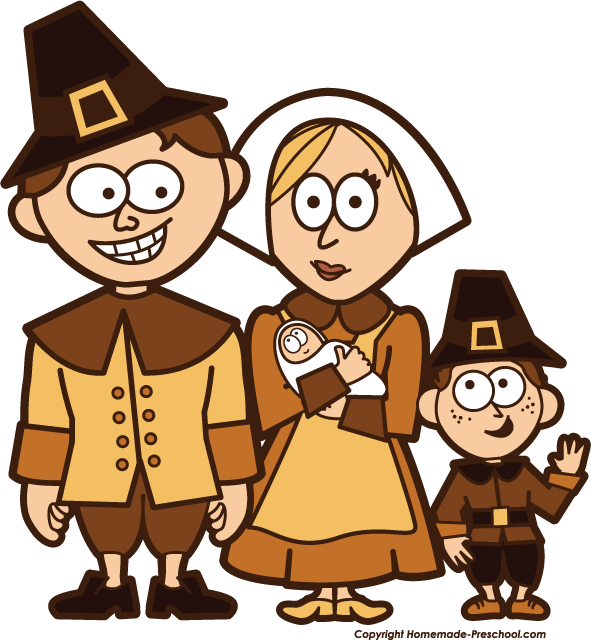 Home Free Clipart Thanksgiving Clipart Pilgrim Family