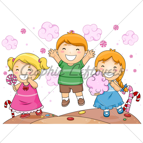 Illustration Of Cute Little Kids Having Fun Whi