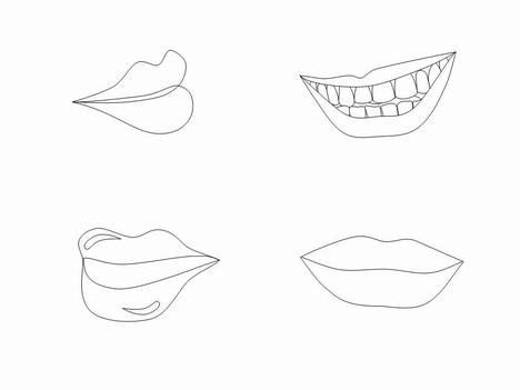 Lips Clip Art Inside Page