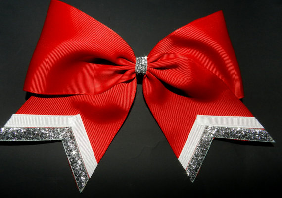 Texas Size Cheer Bow Single Layer Trimed Ends By Abcbows