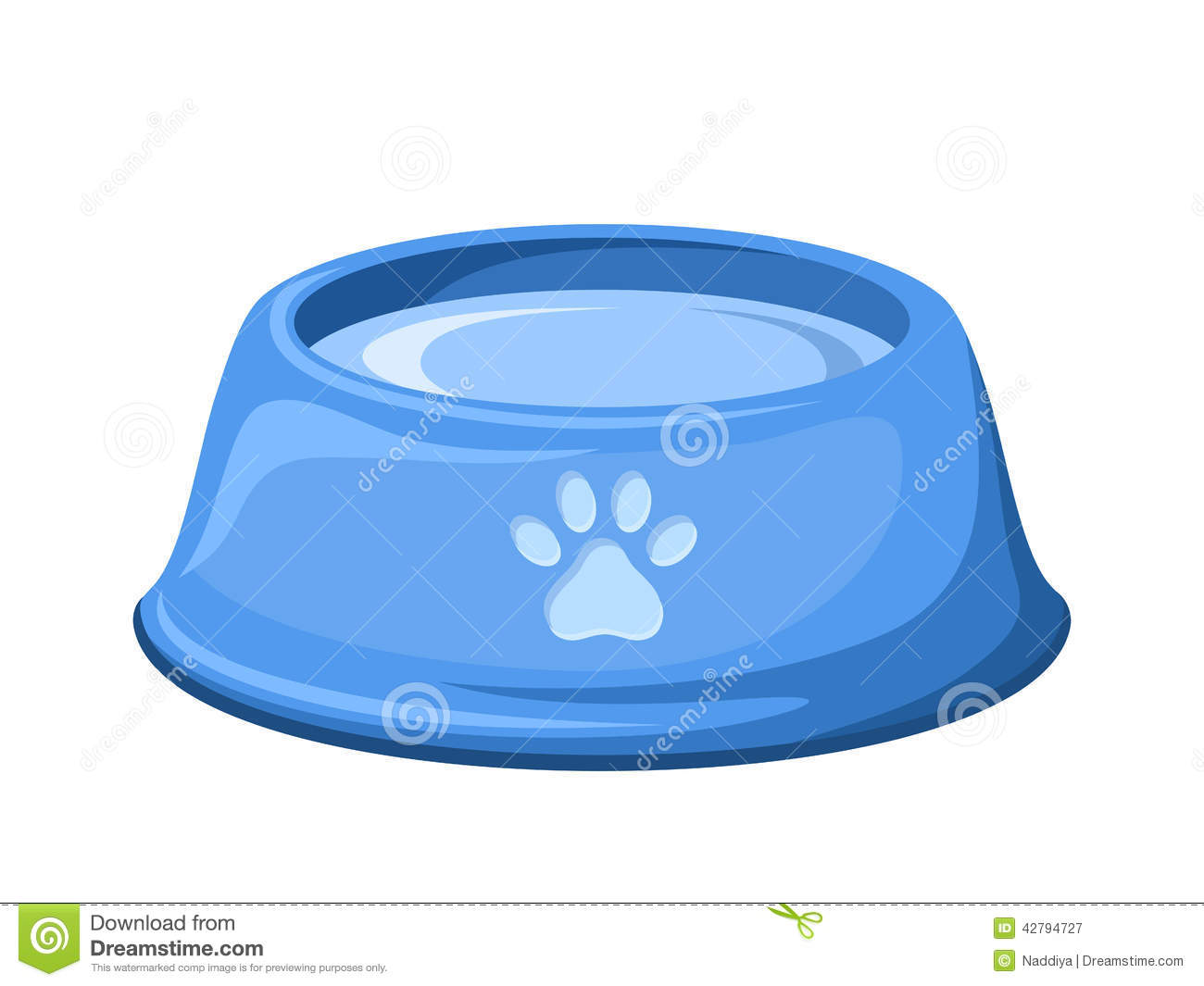 Dog Water Bowl With Bone Picture