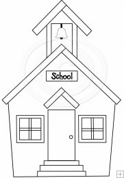 Schoolhouse Outline Clipart - Clipart Kid