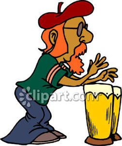Beatnik Drummer   Royalty Free Clipart Picture